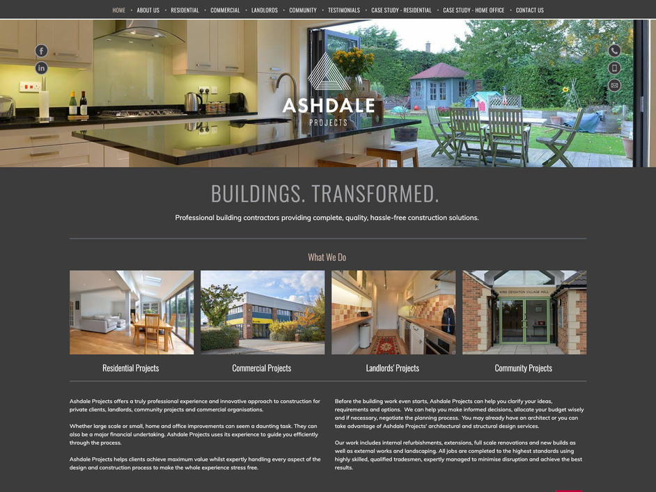 The Ashdale Projects website created by it'seeze York